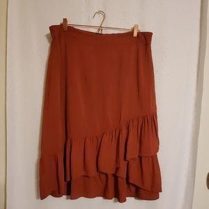 Torrid | Burnt Orange Ruffle Skirt
